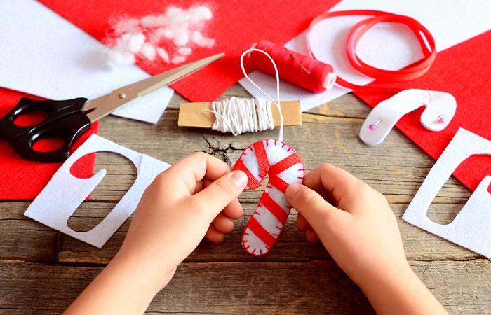 Manualidades navideñas. Foto: Shutterstock
