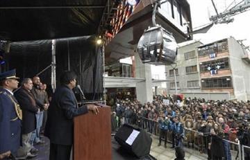 Evo Morales inauguró la Línea Café del cable en La Paz