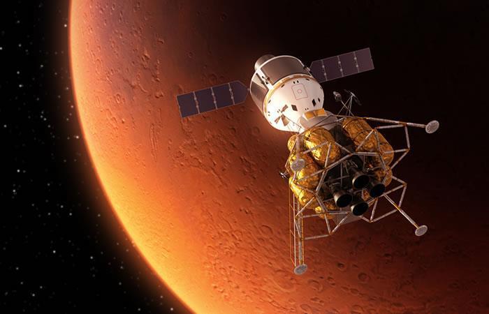 Encuentran un cráter de hielo en el planeta Marte