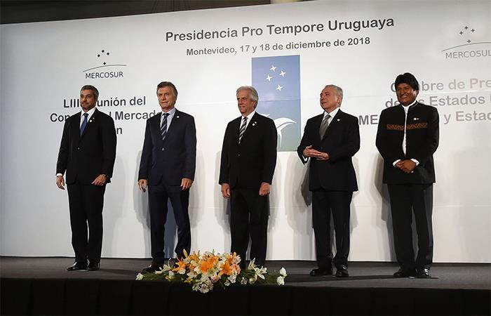 Los mandatarios de la Mercosur se reunieron esta semana en Uruguay. Foto: AFP
