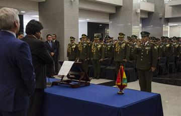 Evo Morales defiende la designación del nuevo Alto Mando Militar