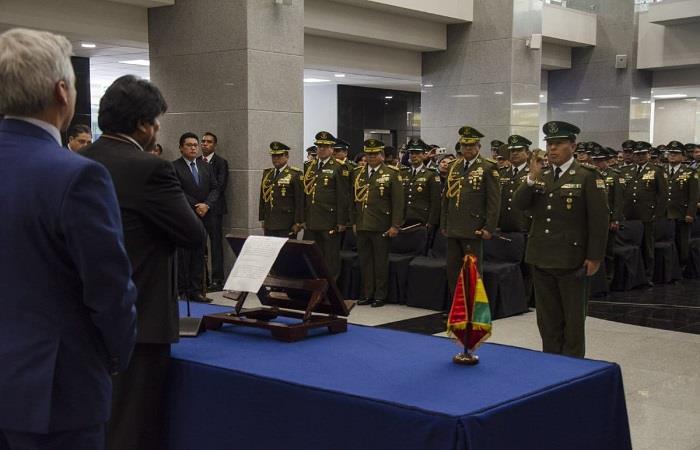 La posesión tuvo lugar en La Casa Grande del Pueblo, La Paz. Foto: Twitter