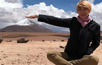 Edith González estuvo de vacaciones por Bolivia