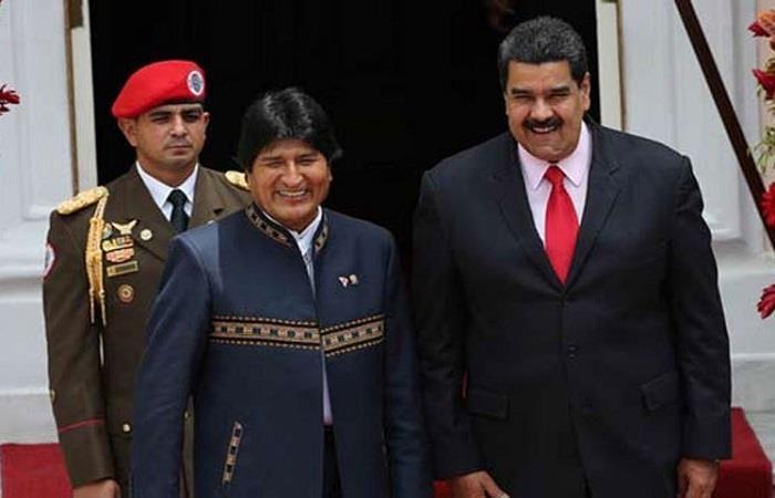 Morales siempre ha mostrado su apoyo al gobierno venezolano. Foto: Twitter