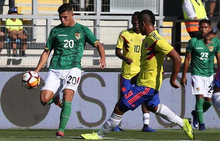 Selección boliviana pierde partido ante Colombia. Foto: EFE.