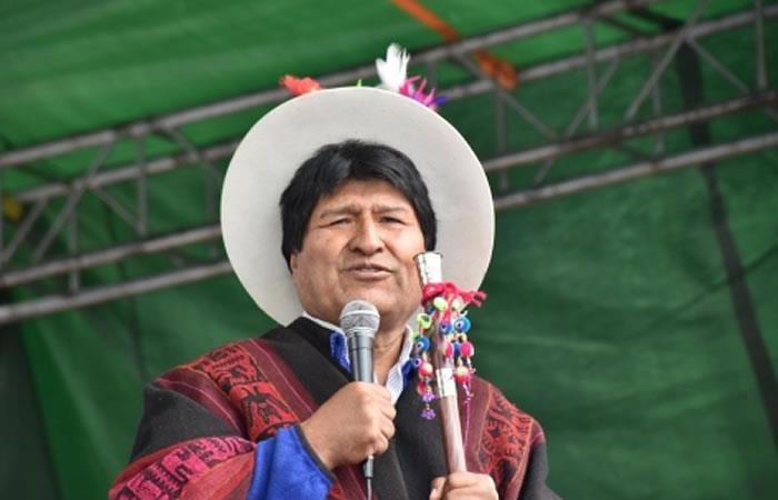 Evo Morales trabaja en detalles de informe sobre su gestión