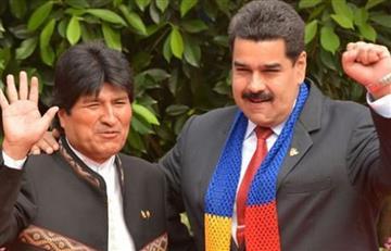 """""""NO al imperialismo"""": Evo Morales muestra su apoyo al chavismo en Venezuela"""