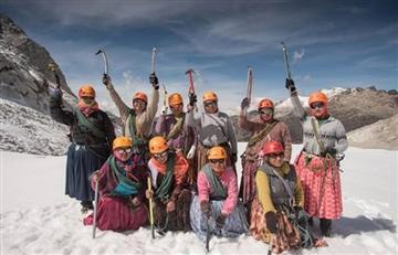 """""""Son un orgullo para Bolivia"""" fueron las palabras de Morales a las """"cholitas escaladoras"""""""