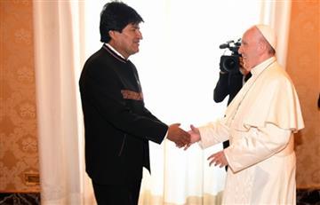 """Morales """"agradece"""" al Papa Francisco por su mensaje de apoyo a Venezuela"""