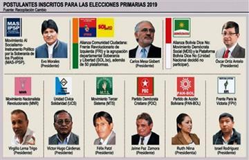 Elecciones primarias: El MAS logró 43,7% de participación