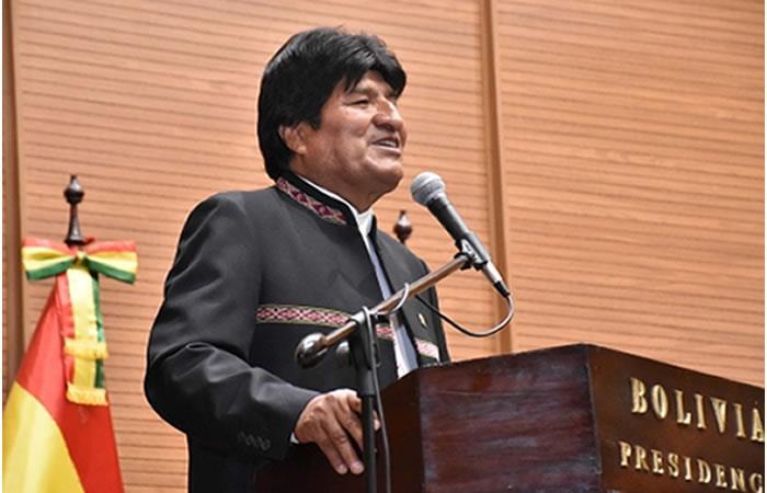 Morales hace un llamado para construir una identidad sudamericana en materia de defensa. Foto ABI