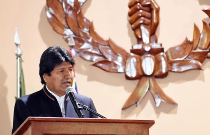 Evo Morales seguirá apoyando la situación de Venezuela y espera su pronta solución. Foto: ABI.
