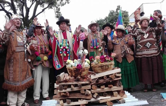 Realizan ritual andino por el Año Internacional de las Lenguas Indígenas