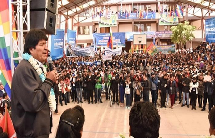 La inauguración nacional se realizó en la Unidad Educativa Mejillones de Oruro. Foto: ABI