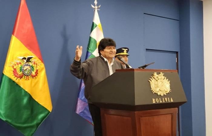 El anuncio lo hizo el presidente Evo Morales en Casa del Pueblo. Foto: ABI