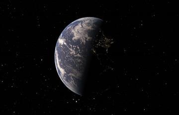 Capturan impresionante foto de la Tierra desde el lado oscuro de la Luna