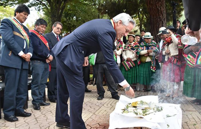 El Presidente de Bolivia y el Gobernador de Oruro encabezaron la celebración. Foto: Twitter