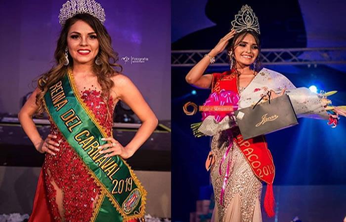 Jhoselin González Salinas y Celide Najali Gaspar. Foto: Facebook/Miss Bolivia Club