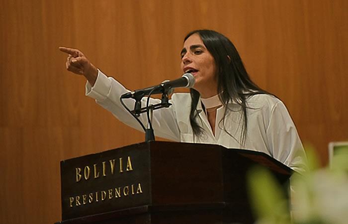 La ministra de Salud, Gabriela Montaño. Foto: ABI
