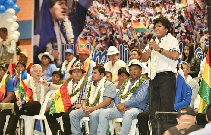 El mandatario boliviano aspira a un periodo presidencial más. Foto: ABI