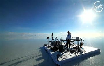 Músico francés eligió el Salar de Uyuni para dar un inesperado concierto