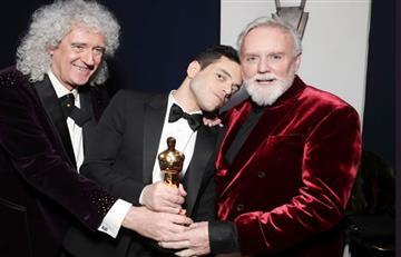 Rami Malek alzó la estatuilla como Mejor Actor por interpretar a Freddy Mercury