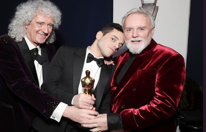 Rami Malek compartió el éxito con los integrantes de Queen. Foto: Twitter.