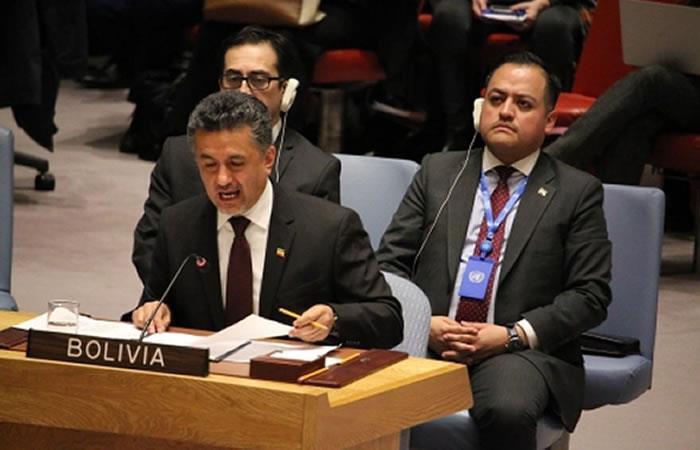 Embajador de Bolivia ante la ONU. Foto: ABI