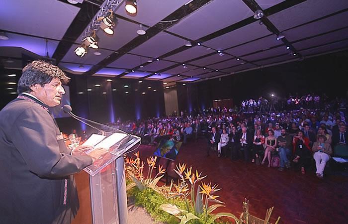 Morales compartió algunos logros de su gestión. Foto: ABI