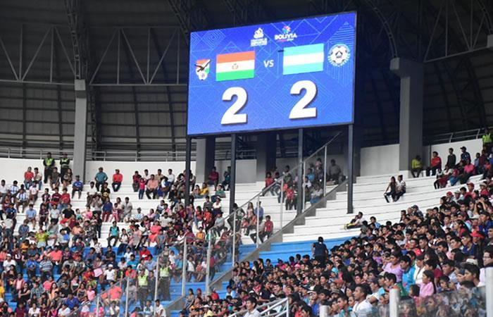 Amistoso entre Bolivia vs Nicaragua. Foto: Twitter