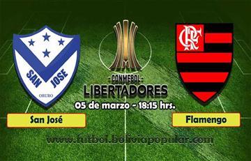 Boliviano San José recibe al poderoso Flamengo en Libertadores