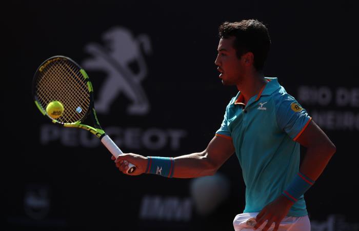 Tenista boliviano Hugo Dellien. Foto: EFE