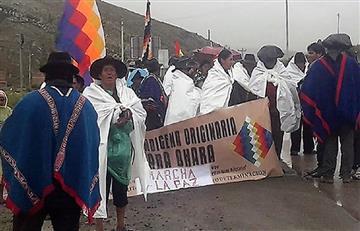 Desde hace 28 días la Nación Qhara Qhara marcha pidiendo respeto a sus territorios