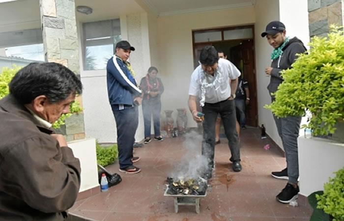 Un espacio de agradecimiento a la Pachamama. Foto: ABI