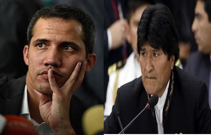 Evo Morales en contra de Juan Guaidó. Foto: AFP