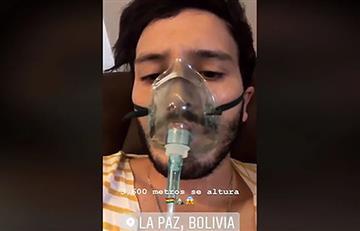 Sebastián Yatra sufrió por la altura de La Paz y sus fotos generaron polémica