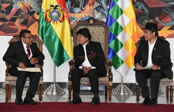 Presidente recibe cartas credenciales de los nuevos embajadores de Cuba y Costa Rica. Foto: ABI