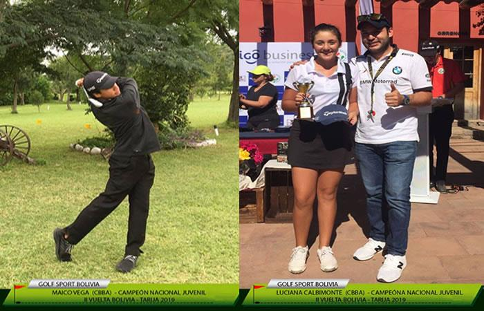 Cochabambinos se destacan en el nacional de golf