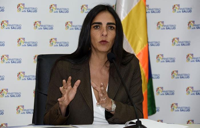 Ministra de Salud, Gabriela Montaño. Foto: ABI