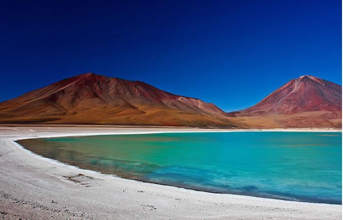 Laguna verde, antiplano boliviano. Foto: Shutterstock