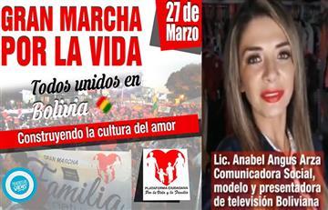 """Anabel invita a los ciudadanos de Santa Cruz a la """"Marcha por la vida"""""""