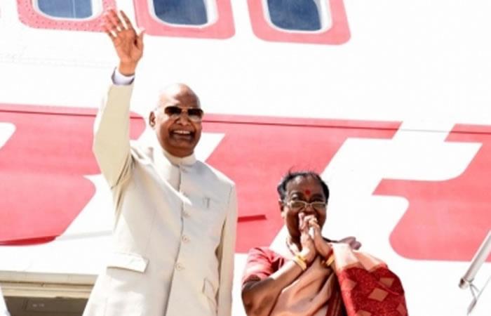 Presidente de la India se va de Bolivia. Foto: ABI.