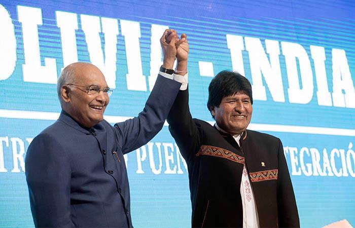 El presidente de India visitó Bolivia durante tres días. Foto: ABI