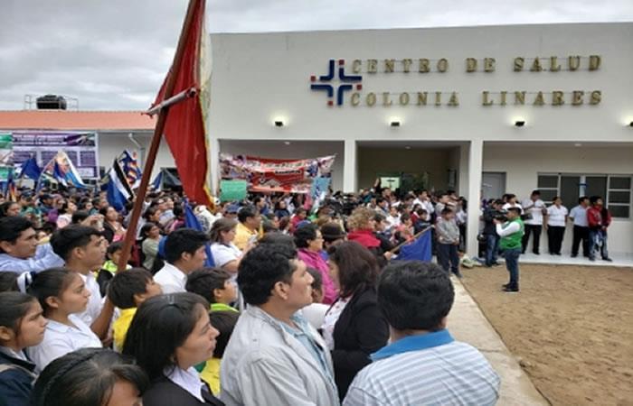 Además del centro de salud se entregaron otras obras en Tarija. Foto: ABI