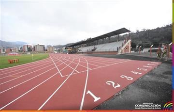 Evo Morales entrega gimnasio y pista atlética al Colegio Militar del Ejército