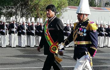 Presidente Morales celebra el aniversario del Colegio Militar del Ejército