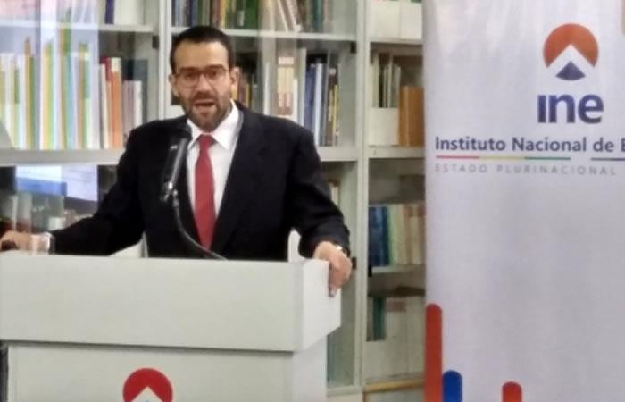 Director del Instituto Nacional de Estadística (INE), Santiago Farjat. Foto: ABI
