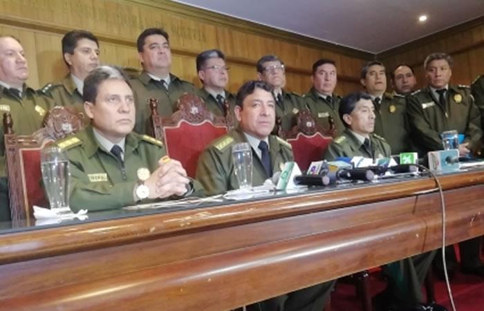 Policía determina suspender a todo el personal de la 'Fuerza de Lucha Contra el Crimen' de Santa Cruz