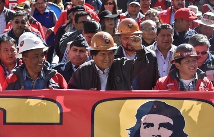 Marcha en conmemoración del Día del Trabajador. Foto: ABI