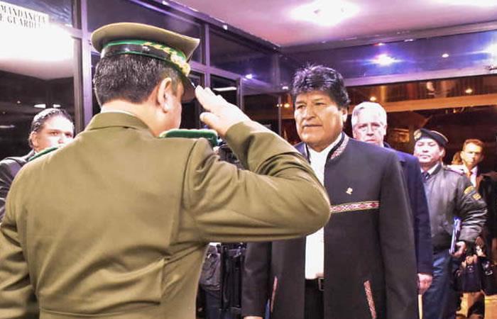 La Policía boliviana presenta plan 'anticorrupción'. Foto: ABI
